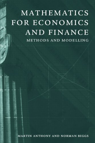 9780521551137: Mathematics for Economics and Finance: Methods and Modelling