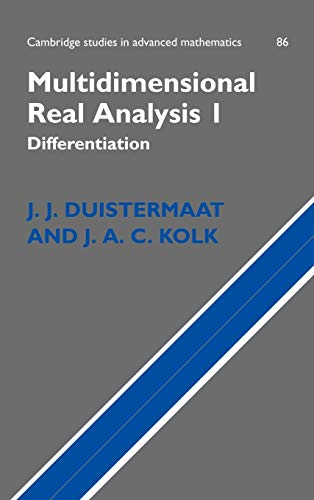 9780521551144: Multidimensional Real Analysis I: Differentiation (Cambridge Studies in Advanced Mathematics)