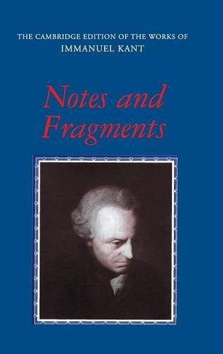 9780521552486: Notes and Fragments