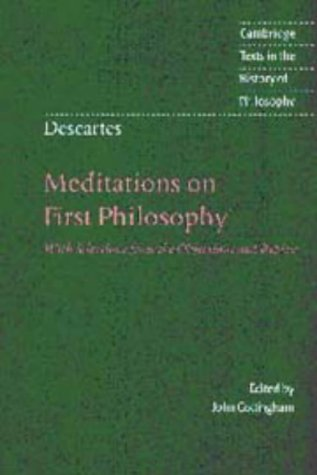 9780521552523: Descartes: Meditations on First Philosophy: With Selections from the Objections and Replies (Cambridge Texts in the History of Philosophy)