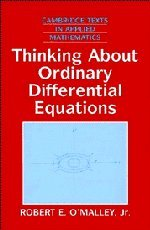 9780521553148: Thinking about Ordinary Differential Equations Hardback (Cambridge Texts in Applied Mathematics)