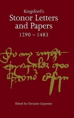 9780521554671: Kingsford's Stonor Letters and Papers 1290-1483 (Camden Classic Reprints)