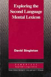 9780521554961: Exploring the Second Language Mental Lexicon (Cambridge Applied Linguistics)