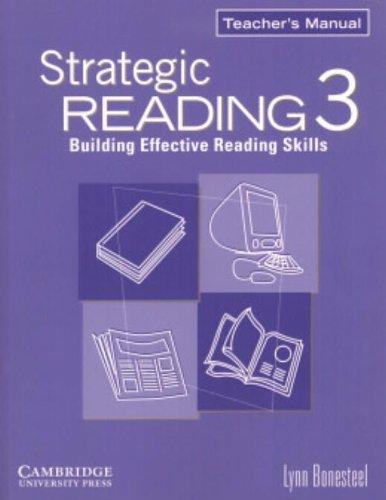 9780521555753: Strategic Reading 3 Teacher's Manual: Building Effective Reading Skills: Level 3