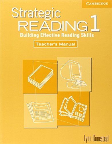 9780521555777: Strategic Reading 1 Teacher's manual: Building Effective Reading Skills: Level 1