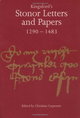 9780521555869: Kingsford's Stonor Letters and Papers 1290-1483 (Camden Classic Reprints)
