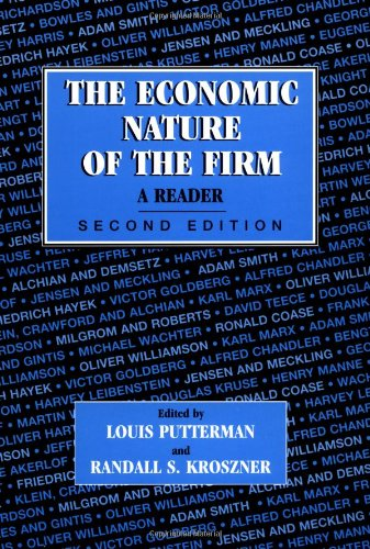 9780521556286: The Economic Nature of the Firm: A Reader