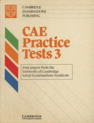 9780521556835: CAE Practice Tests 3 Student's book: Level 3