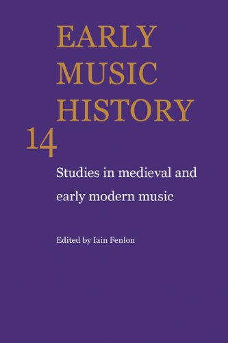 9780521558433: Early Music History: Volume 14: Studies in Medieval and Early Modern Music