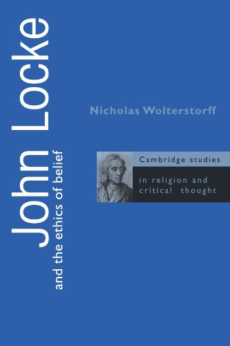 9780521559096: John Locke and the Ethics of Belief (Cambridge Studies in Religion and Critical Thought)
