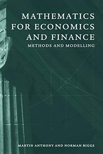 9780521559133: Mathematics for Economics and Finance: Methods and Modelling