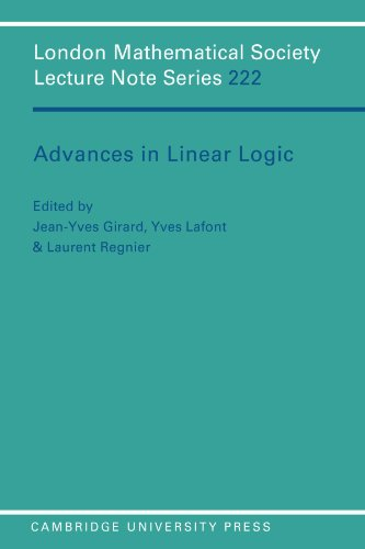 9780521559614: Advances in Linear Logic Paperback (London Mathematical Society Lecture Note Series)