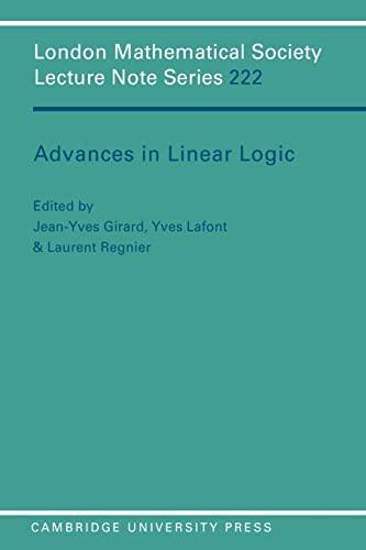 9780521559614: Advances in Linear Logic