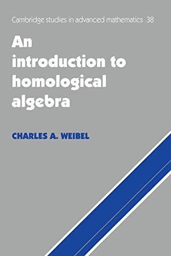 9780521559874: An Introduction to Homological Algebra (Cambridge Studies in Advanced Mathematics)