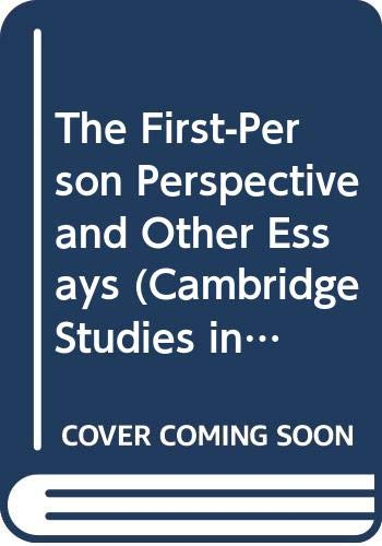 9780521560306: The First-Person Perspective and Other Essays