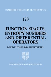 9780521560368: Function Spaces, Entropy Numbers, Differential Operators Hardback (Cambridge Tracts in Mathematics)
