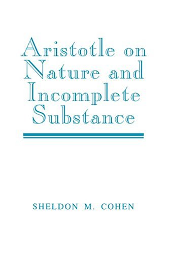 9780521560818: Aristotle on Nature and Incomplete Substance