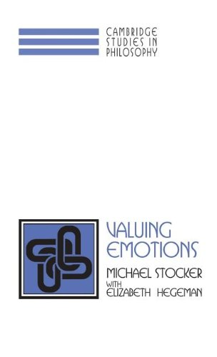 9780521561105: Valuing Emotions Hardback (Cambridge Studies in Philosophy)