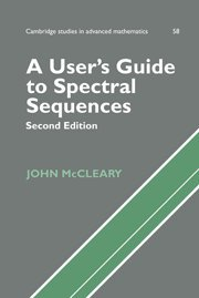 9780521561419: A User's Guide to Spectral Sequences (Cambridge Studies in Advanced Mathematics)