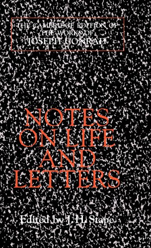 9780521561631: Notes on Life and Letters (The Cambridge Edition of the Works of Joseph Conrad)