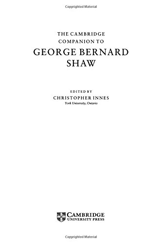 9780521562379: The Cambridge Companion to George Bernard Shaw (Cambridge Companions to Literature Series)