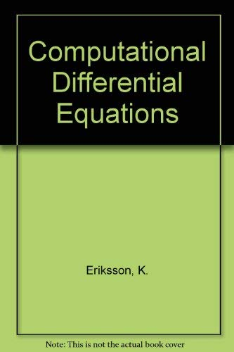 9780521563123: Computational Differential Equations