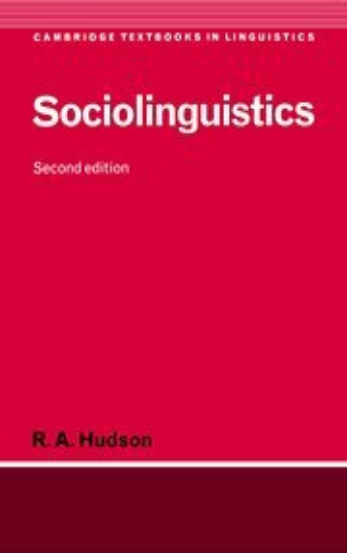 9780521563499: Sociolinguistics (Cambridge Textbooks in Linguistics)