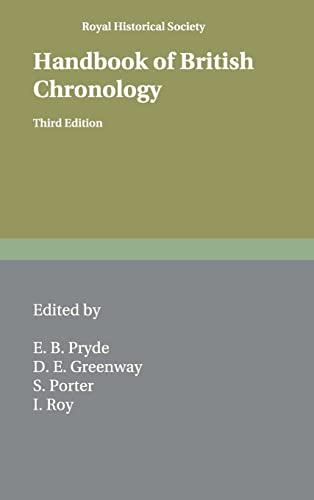 9780521563505: Handbook of British Chronology (Royal Historical Society Guides and Handbooks, Series Number 2)