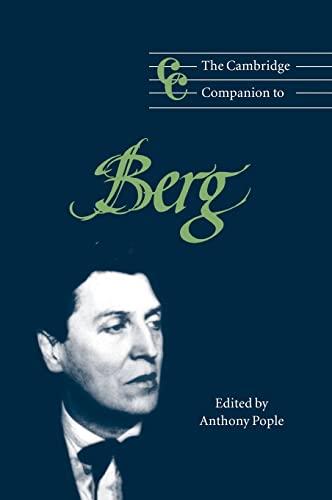 9780521563741: The Cambridge Companion to Berg