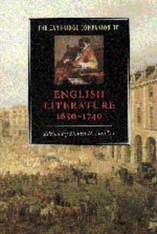 9780521563796: The Cambridge Companion to English Literature, 1650-1740 (Cambridge Companions to Literature)