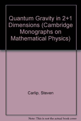 9780521564083: Quantum Gravity in 2+1 Dimensions (Cambridge Monographs on Mathematical Physics)