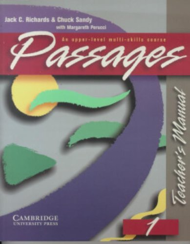 9780521564687: Passages Teacher's Manual 1: An Upper-Level Multi-Skills Course