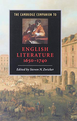 9780521564885: The Cambridge Companion to English Literature, 1650-1740 (Cambridge Companions to Literature)