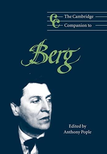 9780521564892: The Cambridge Companion to Berg