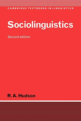 9780521565141: Sociolinguistics