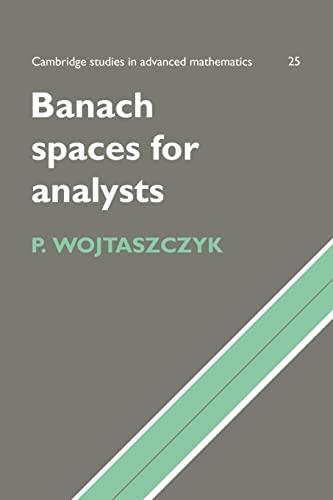 9780521566759: Banach Spaces for Analysts (Cambridge Studies in Advanced Mathematics)