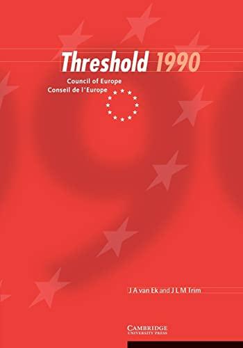 Threshold 1990 (Paperback): Jan Ate Van