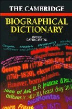 9780521567800: The Cambridge Biographical Dictionary