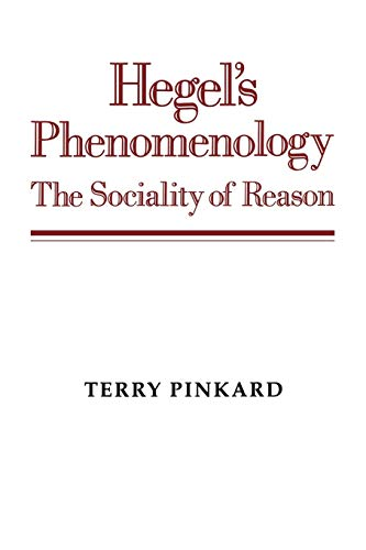 9780521568340: Hegel's Phenomenology Paperback: The Sociality of Reason