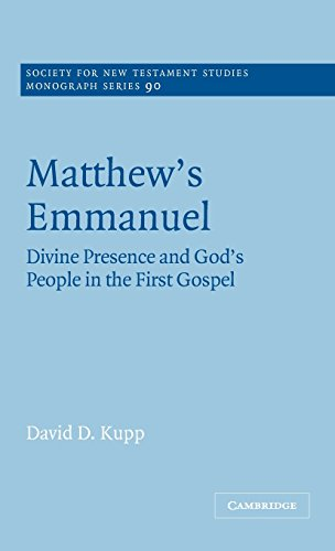 9780521570077: Matthew's Emmanuel Hardback: Divine Presence and God's People in the First Gospel (Society for New Testament Studies Monograph Series)
