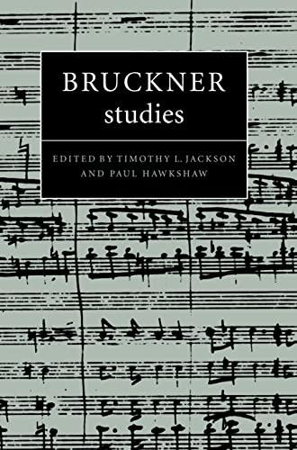 9780521570145: Bruckner Studies (Cambridge Composer Studies)