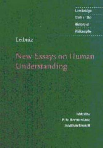 9780521572118: Leibniz: New Essays on Human Understanding (Cambridge Texts in the History of Philosophy)