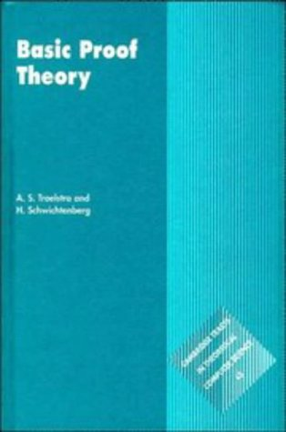 9780521572231: Basic Proof Theory (Cambridge Tracts in Theoretical Computer Science)