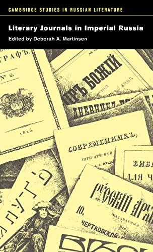 Literary Journals in Imperial Russia (Cambridge Studies