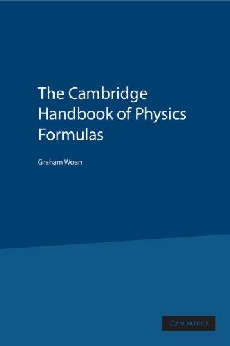 9780521573498: The Cambridge Handbook of Physics Formulas