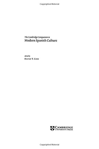 9780521574082: The Cambridge Companion to Modern Spanish Culture Hardback (Cambridge Companions to Culture)
