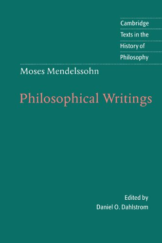 9780521574778: Moses Mendelssohn: Philosophical Writings (Cambridge Texts in the History of Philosophy)