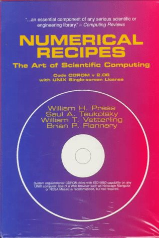 Numerical Recipes Code CD-ROM. With UNIX Single Screen License. The art of scientific computing. ...