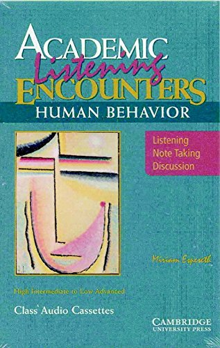 9780521578196: Academic Listening Encounters: Human Behavior Audio Cassettes (5): Listening, Note Taking, and Discussion (Academic Encounters)