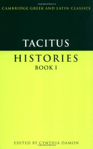 9780521578226: Tacitus: Histories Book I (Cambridge Greek and Latin Classics)